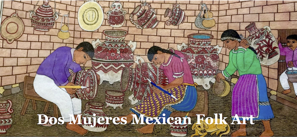 Dos Mujeres Mexican Folk Art